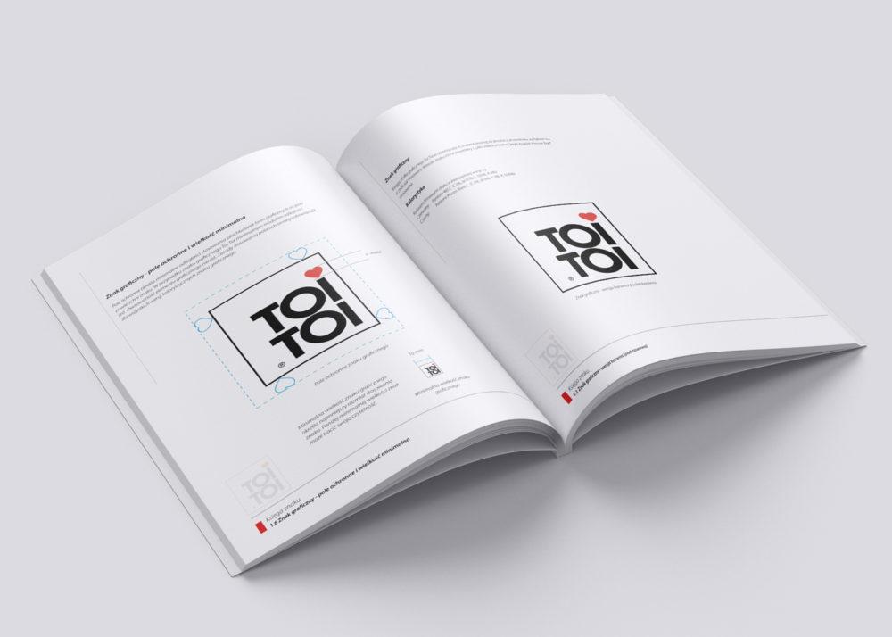 Identyfikacje wizualne ToiToi Polska księga znaku Agencja brandingowa Moweli Creative