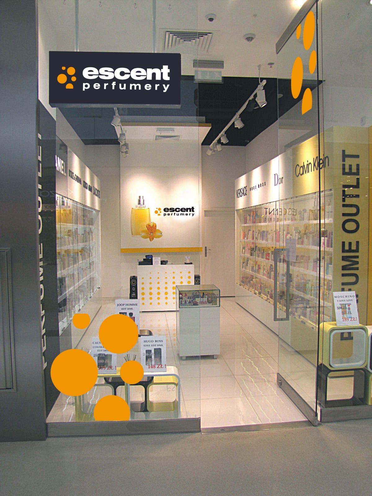 Escent Perfumery projektowanie logo firmy Agencja brandingowa Moweli Creative Dąbrowa Gornicza, Kraków, Wrocław, Gdańsk, Warszawa