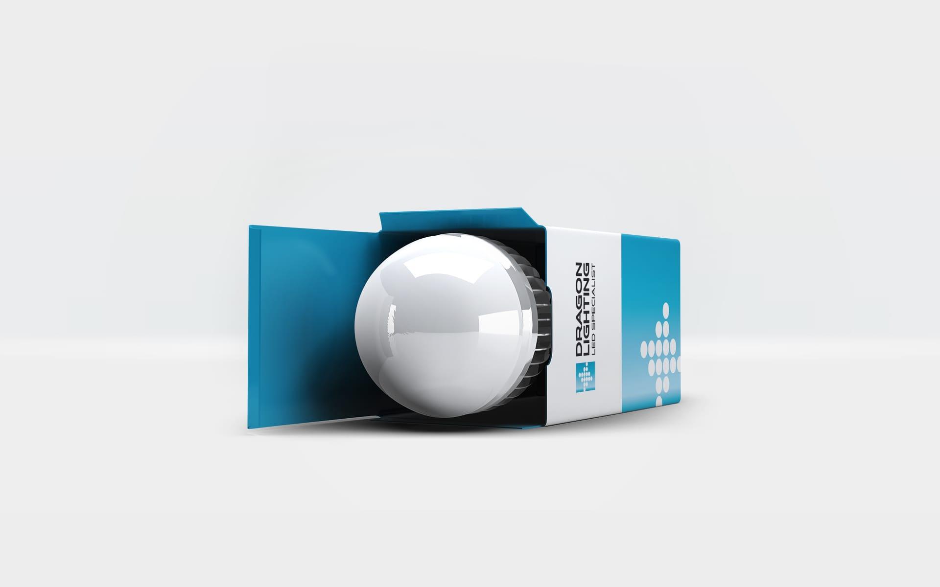 Dragon Lighting logo firmowe projektowanie identyfikacji wizualnych Agencja brandingowa Moweli Creative