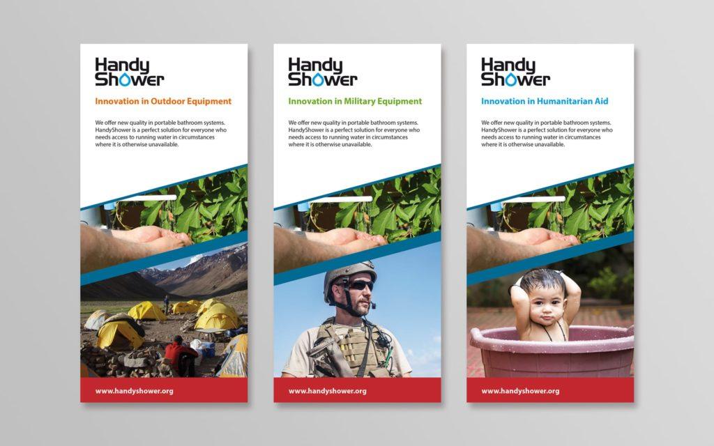 HandyShower logo firmowe identyfikacja wizualna Agencja brandingowa Moweli Creative