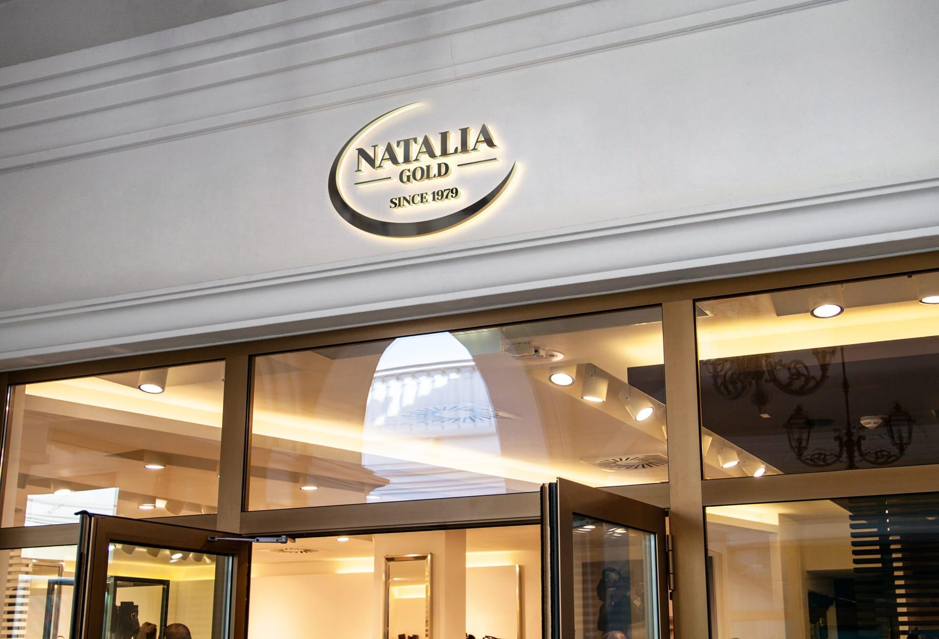 Natalia Gold logo firmowe Agencja brandingowa Moweli Creative