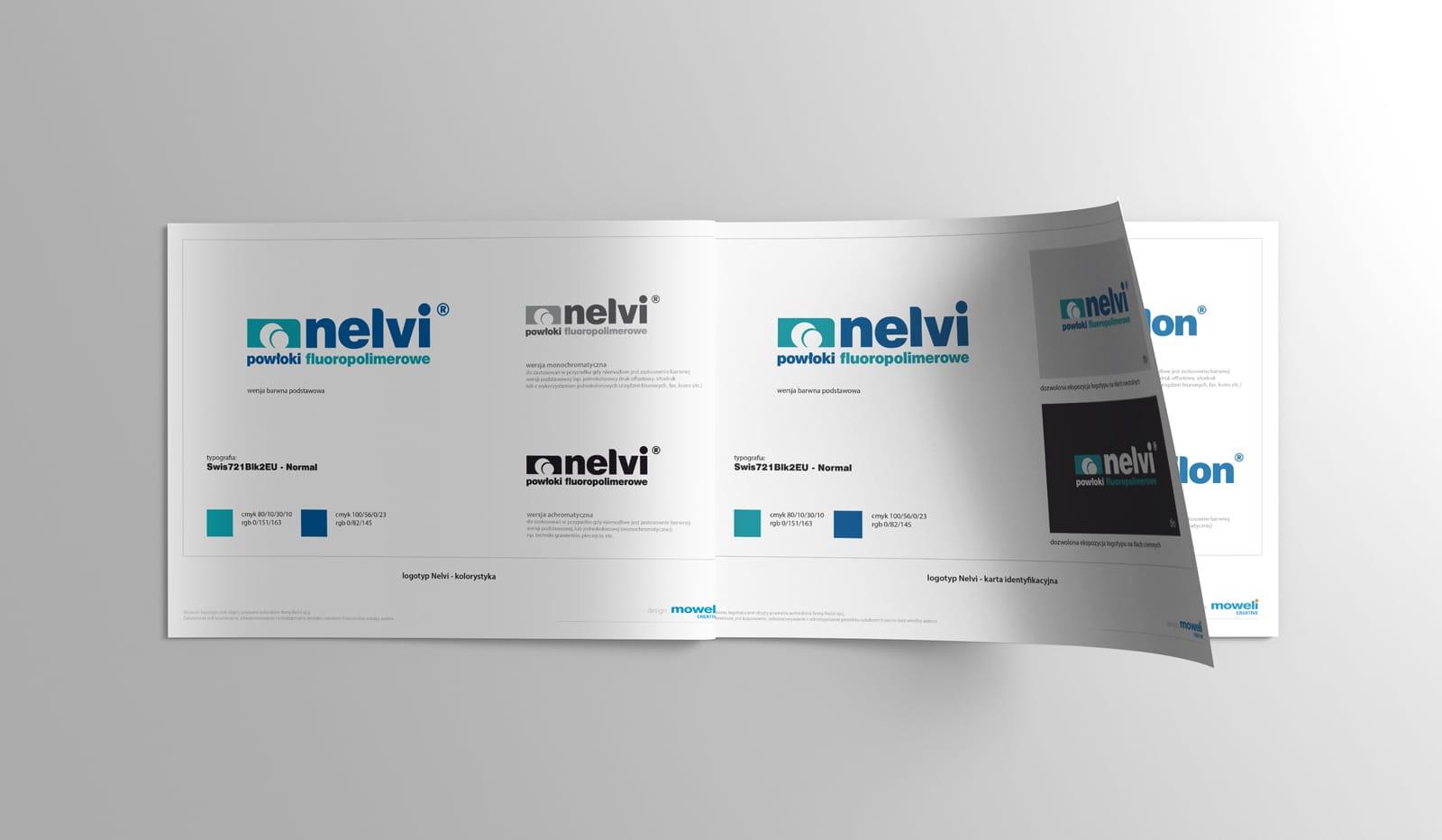 Nelvi karty znaku Agencja brandingowa Moweli Creative