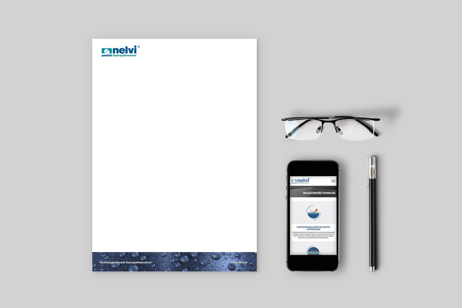 Nelvi papier firmowy Agencja brandingowa Moweli Creative