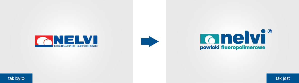 Nelvi rebranding logo firmowego Agencja brandingowa Moweli Creative