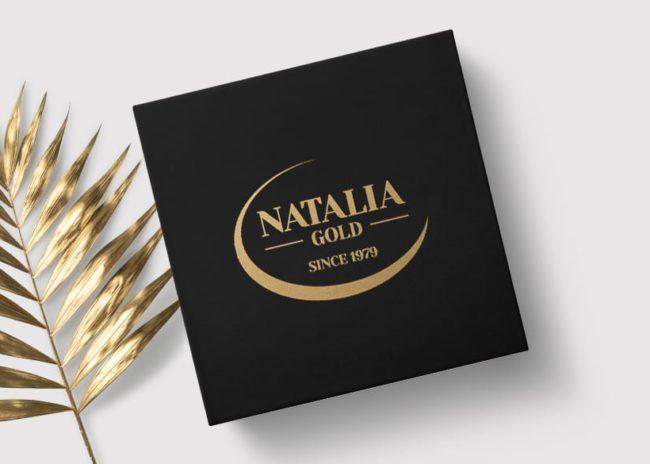 Projektowanie logo dla firmy Natalia Gold, Agencja brandingowa Moweli Creative, Dąbrowa Górnicza, Sosnowiec, Katowice, Warszawa, Wrocław, Kraków, Gdańsk