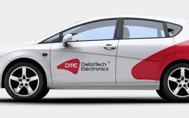 DeltaTech Electronics identyfikacja wizualna projekt logo firmy identyfikacji wizualnej akcydensy firmowe Agencja brandingowa Moweli Creative Dąbrowa Górnicza Warszawa