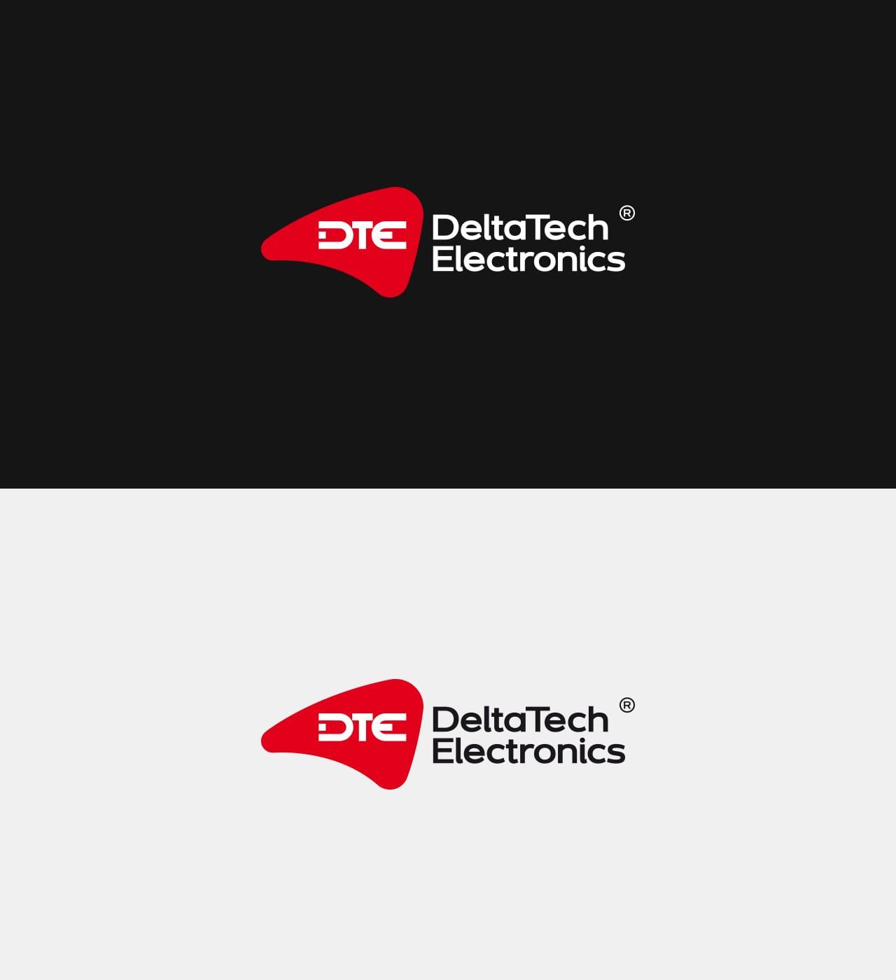 DeltaTech Electronics rebranding logo firmowego rewitalizacja projektowanie logo firmy identyfikacji wizualnych Agencja brandingowa Moweli Creative Dąbrowa Górnicza, Warszawa