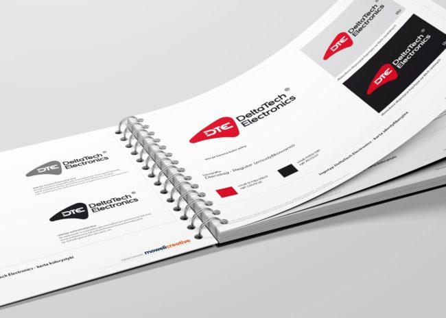 DeltaTech Electronics identyfikacja wizualna projektowanie logo firmowych identyfikacji wizualnej księgi znaku akcydensy firmowe wizytowki Agencja brandingowa Moweli Creative Dąbrowa Górnicza, Kraków, Wrocław, Warszawa