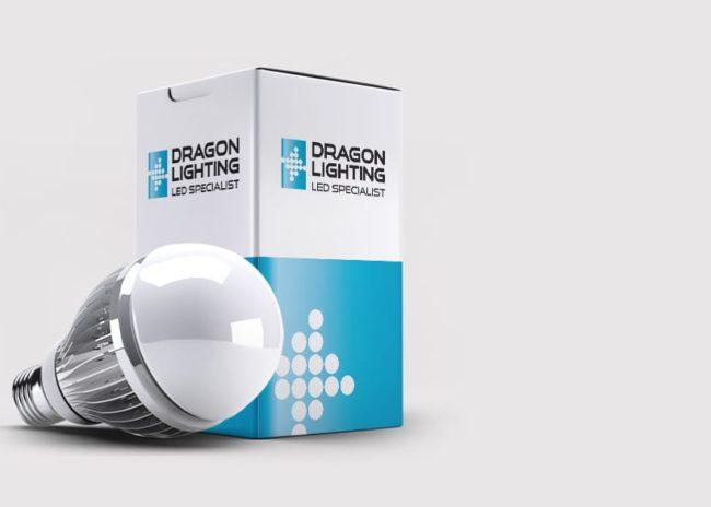 Projektowanie logo marki Dragon Lighting oświetlenie księgi znaku identyfikacje wizualne Agencja brandingowa Moweli Creative Dąbrowa Górnicza Katowice Kraków Wrocław Warszawa