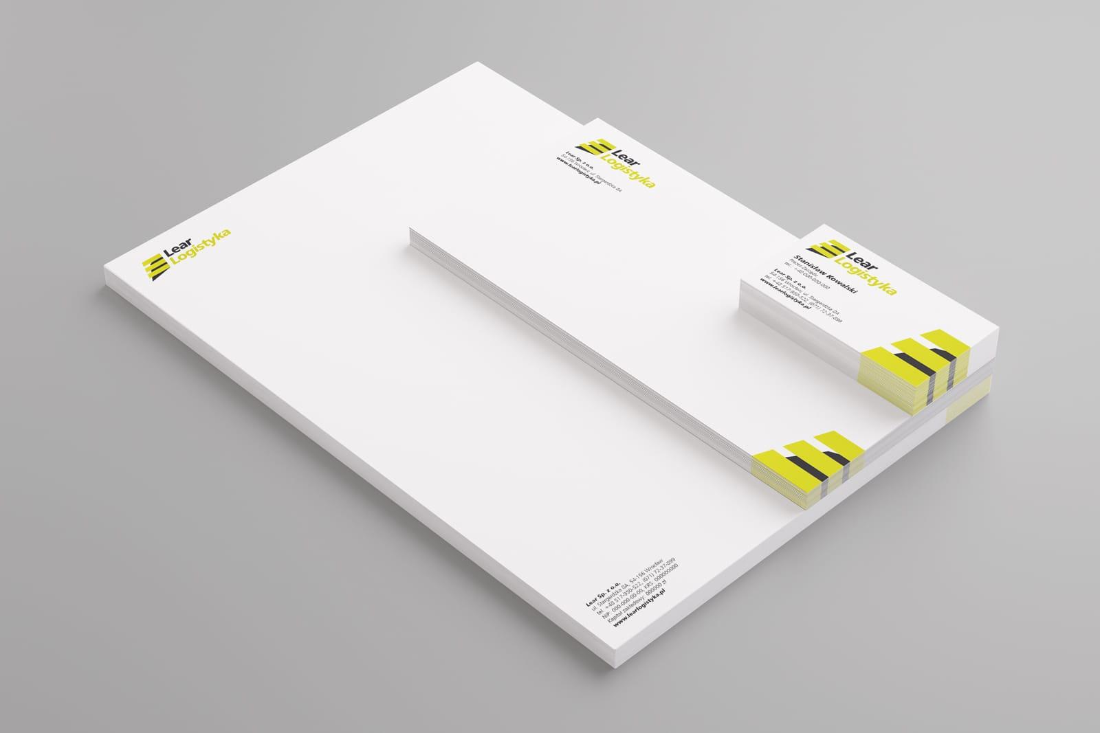 Lear Logistyka projektowanie logo firmowych akcydensy firmowe tworzenie identyfikacja wizualna projekty księga znaku Agencja brandingowa reklamowa Moweli Creative Dąbrowa Górnicza Katowice Kraków Wrocław Warszawa