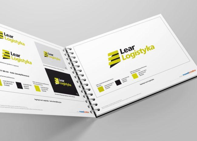 Projektowanie księgi znaku identyfikacji wizualnej dla firmy Lear Logistyka Agencja Brandingowa Moweli Creative Reklamowa Dąbrowa Górnicza Warszawa Kraków Wrocław Gdańsk Poznań