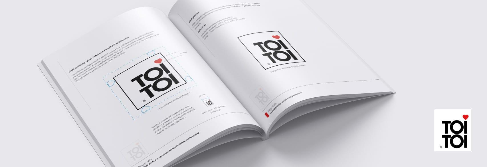 Projektowanie księgi znaku dla firmy ToiToi Polska