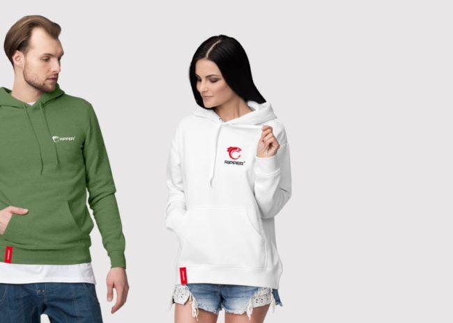 Projektowanie logo marki odzieżowej Ripper wędkarska outdoor Agencja brandingowa Moweli Creative Dąbrowa Górnicza Katowice Kraków Wrocław Warszawa