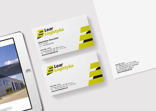 Projektowanie identyfikacji wizualnej dla firmy Lear Logistyka tworzenie logo strona internetowa Agencja brandingowa reklamowa Moweli Creative Dąbrowa Górnicza Katowice Kraków Wrocław Warszawa