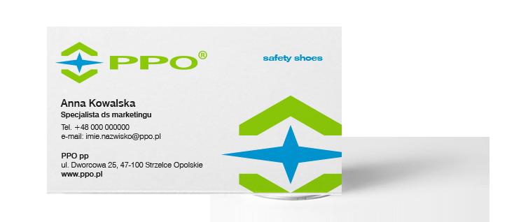PPO rebranding fabryka obuwia akcydensy wizytowki firmowe Agencja-brandingowa Moweli Creative