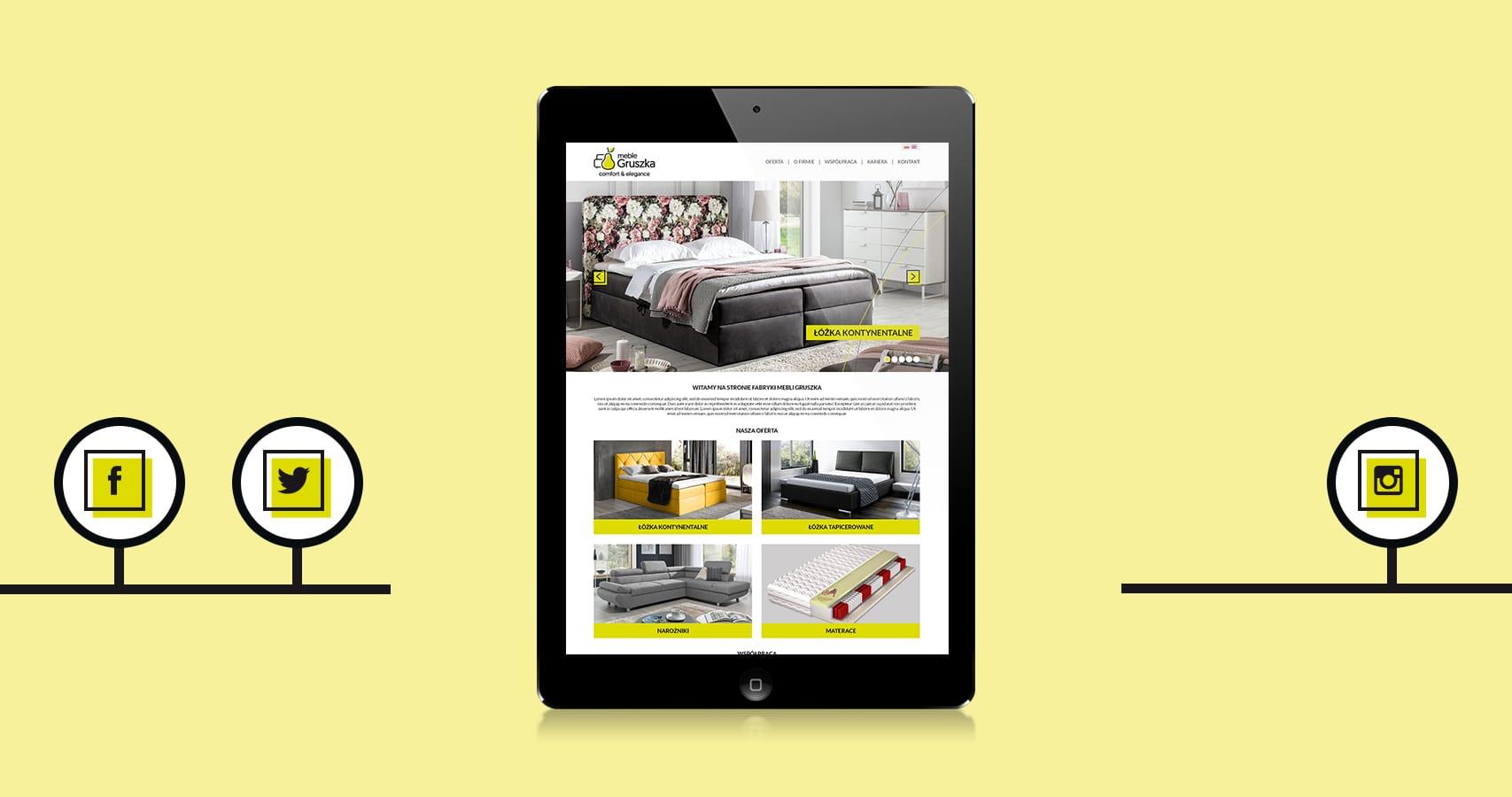 Meble Gruszka firmowa strona internetowa-Agencja-brandingowa Moweli Creative