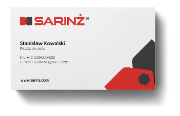 Sarinż budowa wizerunku marki akcydensy wizytówki Agencja-brandingowa Moweli Creative