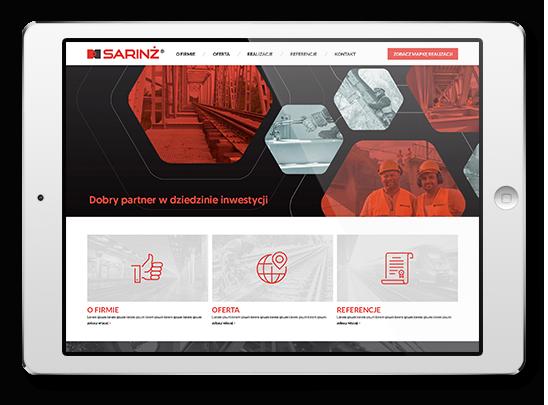 Sarinż budowa wizerunku marki responsywna strona internetowa Agencja-brandingowa Moweli Creative